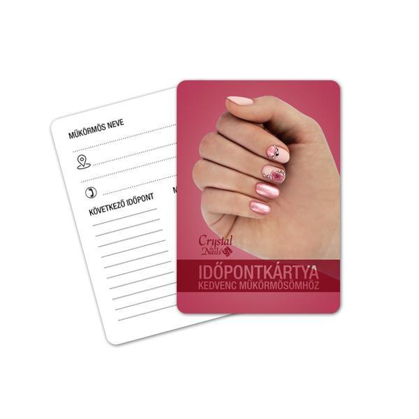 Crystal Nails Időpontkártya - #15