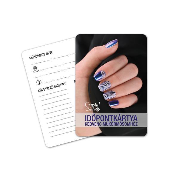 Crystal Nails Időpontkártya - #16