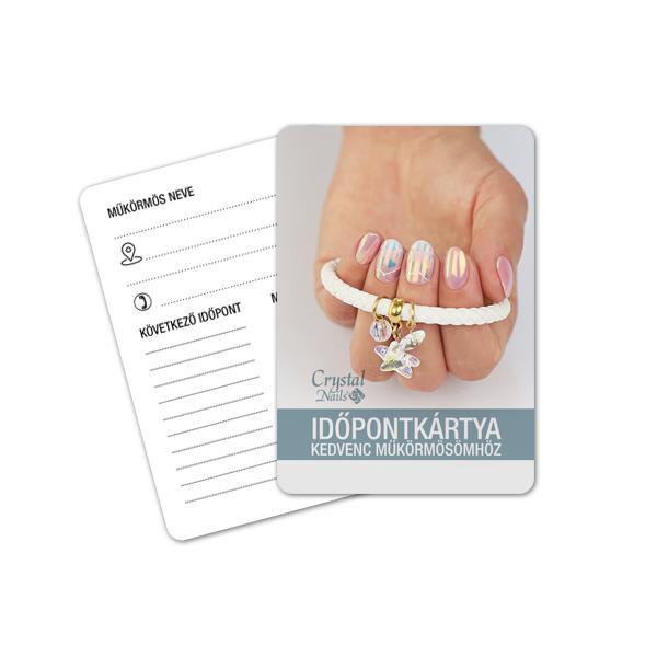 Crystal Nails Időpontkártya - #19