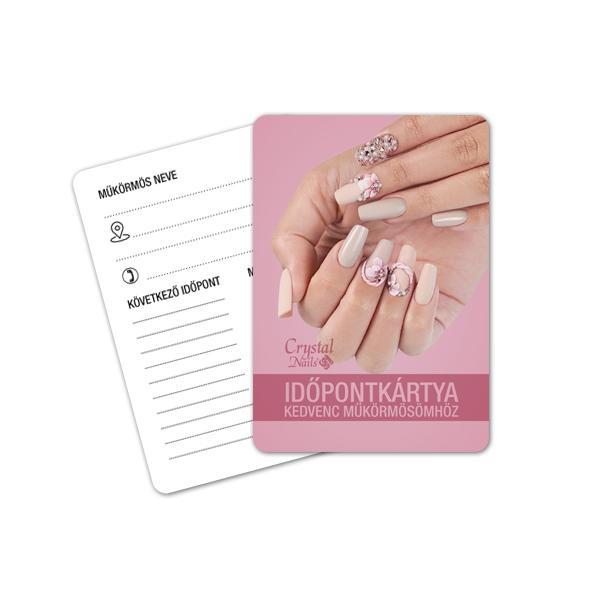 Crystal Nails Időpontkártya - #18