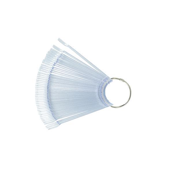 Clear nyeles Tip fém gyűrűvel, 50 db-os