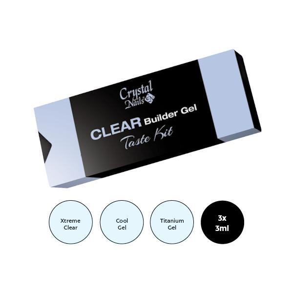 Clear Builder Gel Taste kit