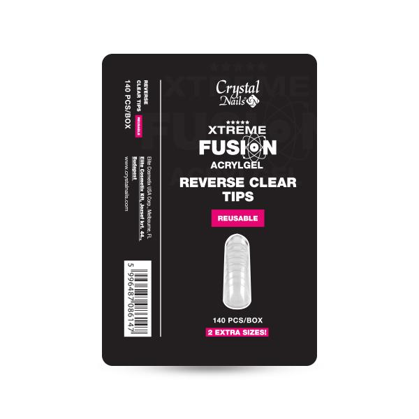 Xtreme Fusion AcrylGel-hez Reverse Clear Tip - 140 db-os