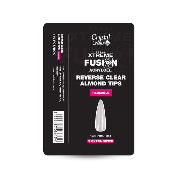 Xtreme Fusion AcrylGel-hez Almond Reverse Clear Tip - 140 db