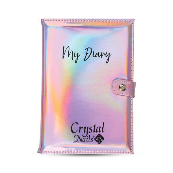 Crystal Nails naptárborító 2021 - Holo pink