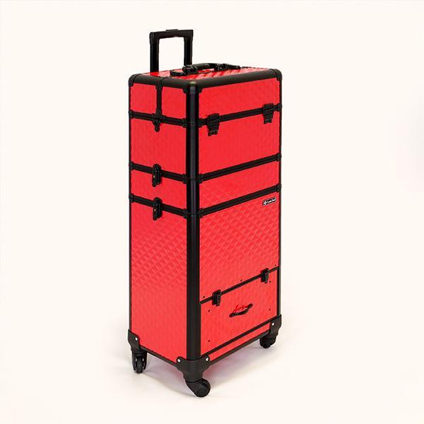 Óriás Fémbőrönd - Hot Red