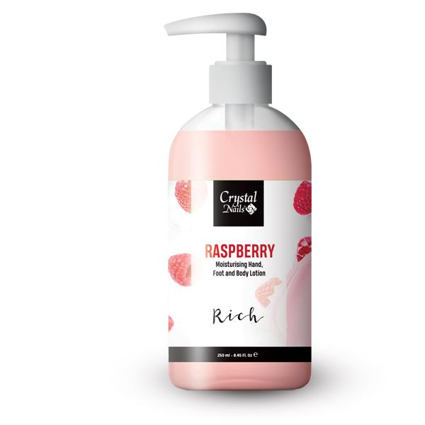 Moisturising Hand, Foot and Body Lotion - Raspberry Lotion - Rich 250ml
