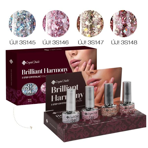 Brilliant Harmony 3 STEP CrystaLac készlet (4x4ml)