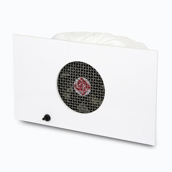 Beépíthető lakkhatású fényes fehér porelszívó - Nagy