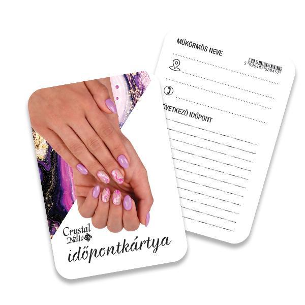 Crystal Nails Időpontkártya - #20