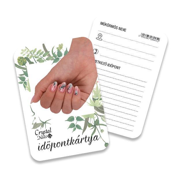 Crystal Nails Időpontkártya - #22