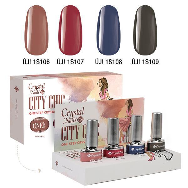 City Chic ONE STEP CrystaLac készlet (4x4ml)