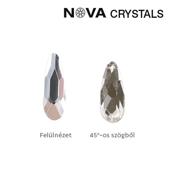 NOVA Crystal Gems Formakő - 2x6 mm csepp (crystal)