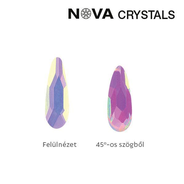 NOVA Crystal Gems Formakő - 2x6 mm csepp (aurora)