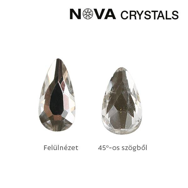 NOVA Crystal Gems Formakő - 5x3 mm csepp (crystal)