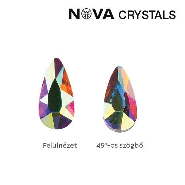 NOVA Crystal Gems Formakő - 5x3 mm csepp (crystal AB)
