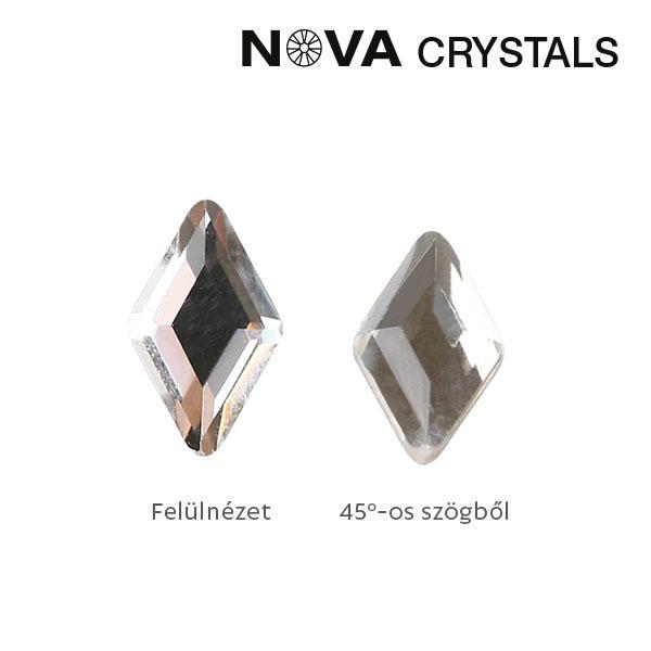 NOVA Crystal Gems Formakő - 3x5 mm rombusz (crystal)