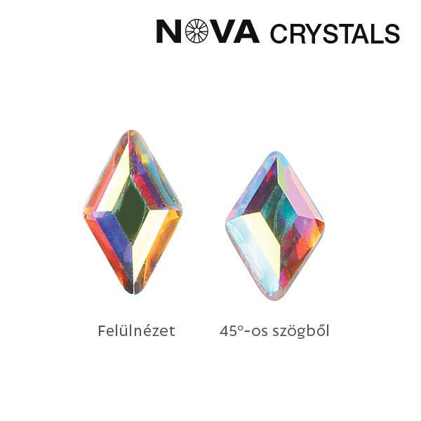 NOVA Crystal Gems Formakő - 3x5 mm rombusz (crystal AB)