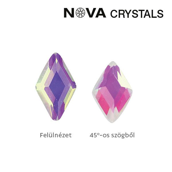 NOVA Crystal Gems Formakő - 3x5 mm rombusz (aurora)