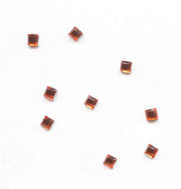 Strassz négyzet narancs 50/cs