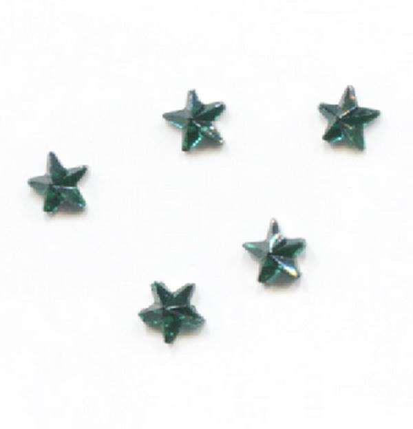 Strassz csillag zöld 50/cs