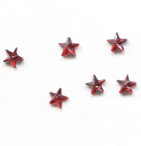 Strassz csillag piros 50/cs