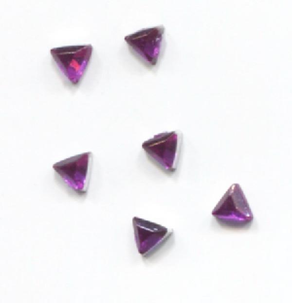 Strassz háromszög lila 50/cs