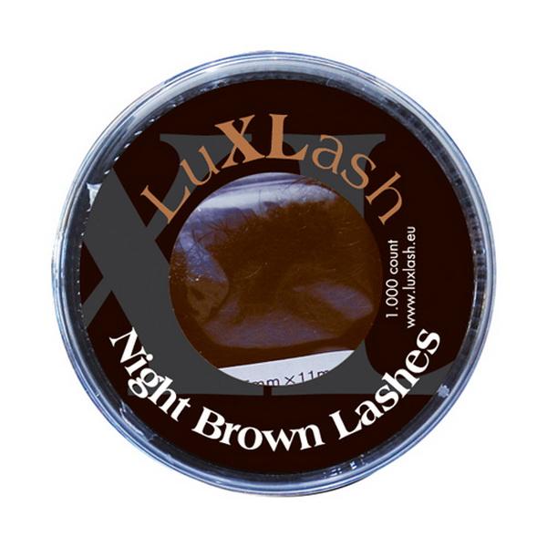 Night Brown - Sötétbarna pillák B/0,20/13mm