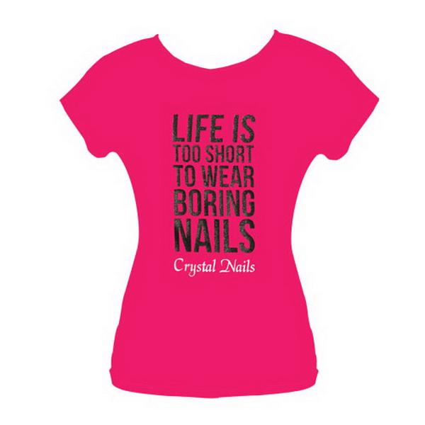 Life is too short felső - Pink (L méret)