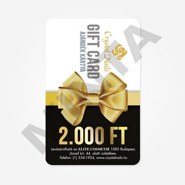 Crystal Nails Gift Card ajándékkártya - 2000 Ft értékben