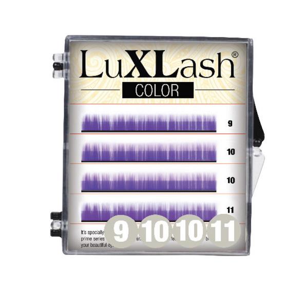 LuXLash Color Lash - Purple D/0,10 (9,10,11)