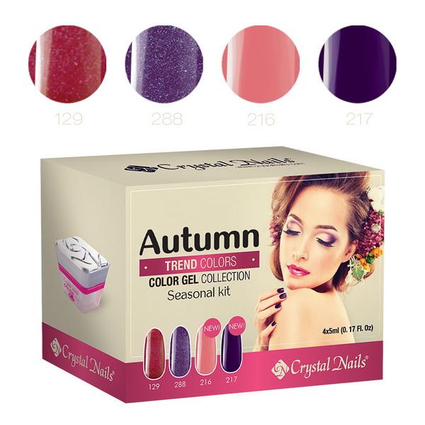2015 Trend Colors Autumn színes zselé készlet - 4x5ml