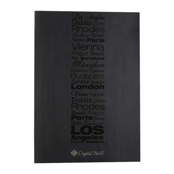 Crystal Nails fekete irattartó mappa