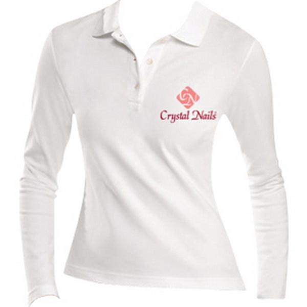 Crystal Nails galléros, hosszú ujjú póló - XL méret