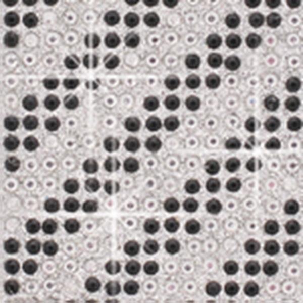 Crystal Sticker dekor fólia - Ferde csíkos 6x10cm