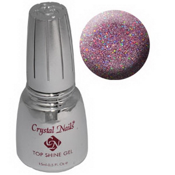 Top Shine zselé (Holo Pink) - 15ml