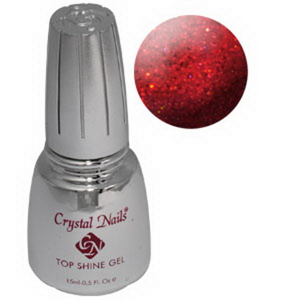 Top Shine zselé (Holo Red) - 15ml