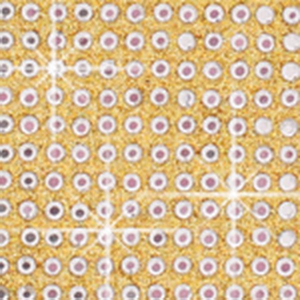Crystal Sticker dekor fólia - Kristály kő, Holo arany 6x10cm