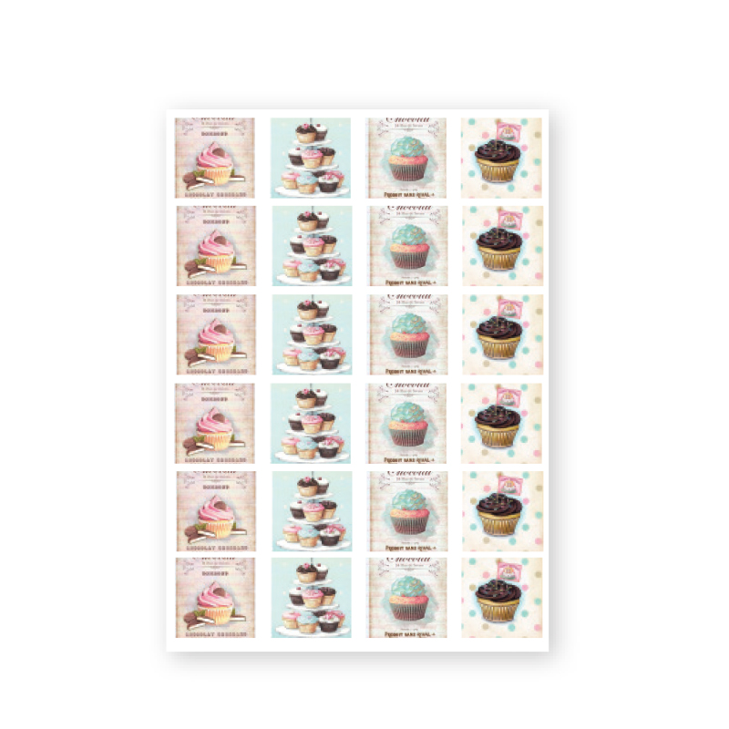 NailArt Baroque Stickers - Cake
