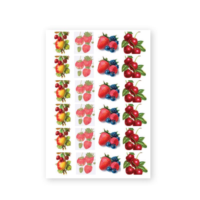 NailArt Baroque Stickers - Fruit