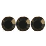 Crystal hajékszer strassz  - matt fekete 96 db