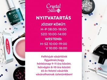 Nyitvatartás változás - Westend & József körút